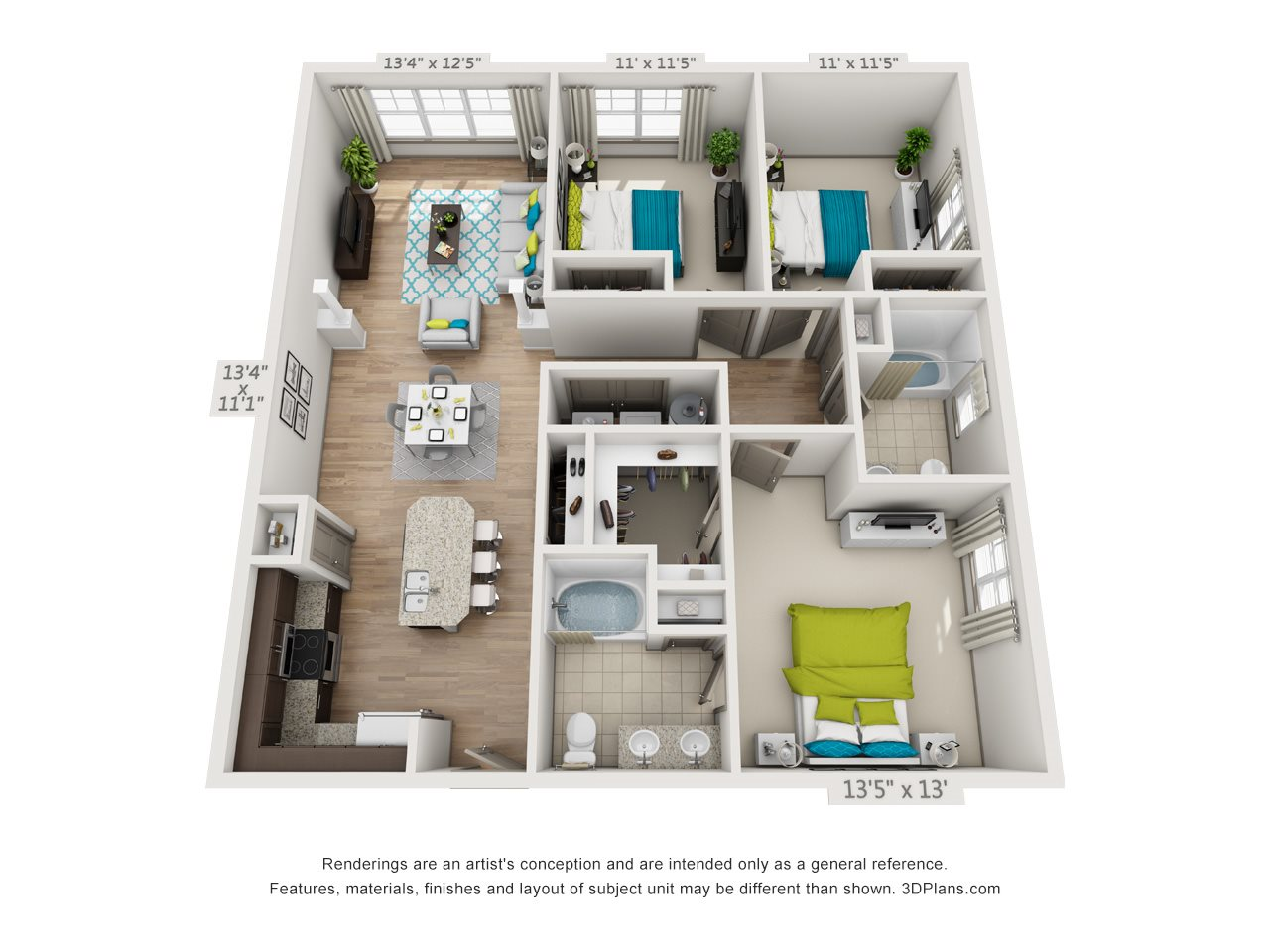 The Moccasin Floor Plan 12