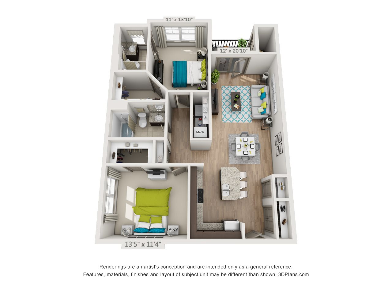 The White Oak Floor Plan 3