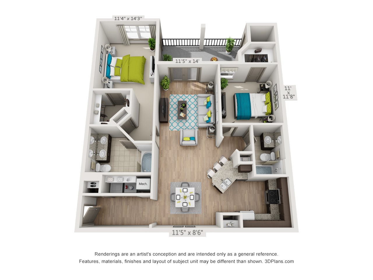 The Ocoee Floor Plan 6