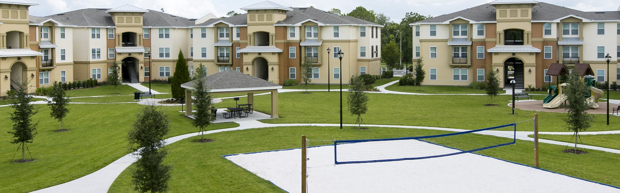 Landstar Park Apartments for rent in Orlando, FL. Make this community your new home or visit other Concord Rents communities at ConcordRents.com. Aerial