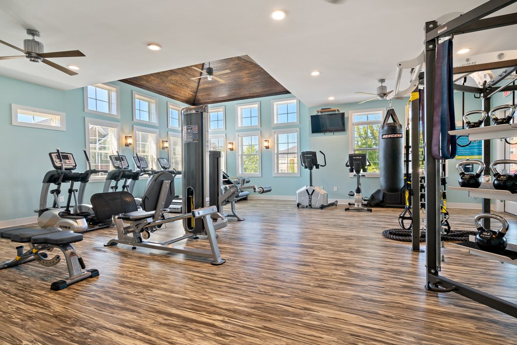 Fitness center at Hawthorne at Southside