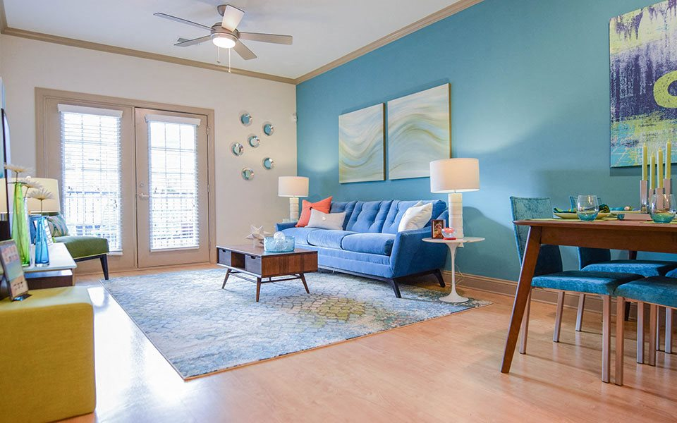 Living Room at Hawthorne at Southside, Asheville, North Carolina
