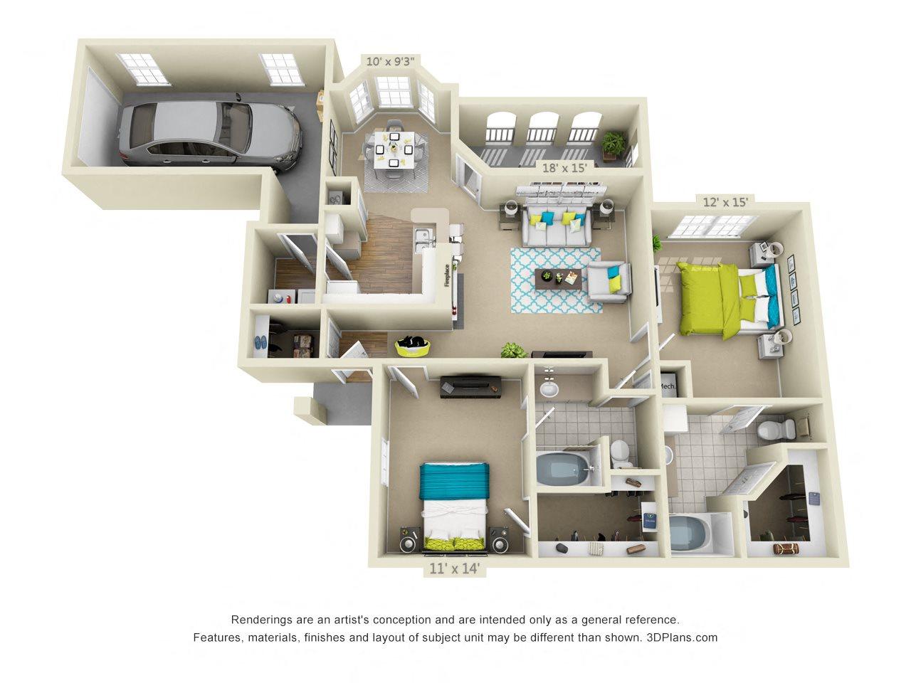 Riverplace Floor Plan 5