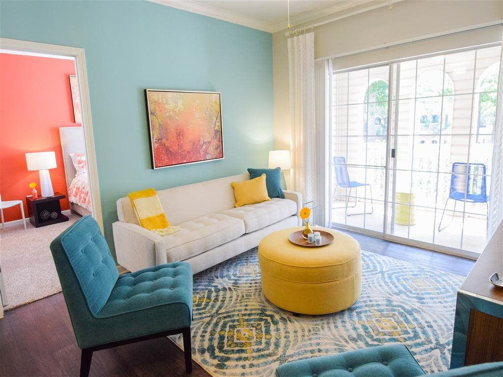 Living Room at Hawthorne at the Carlyle, South Carolina, 29607