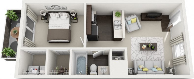B1 Renovated Floor Plan 3