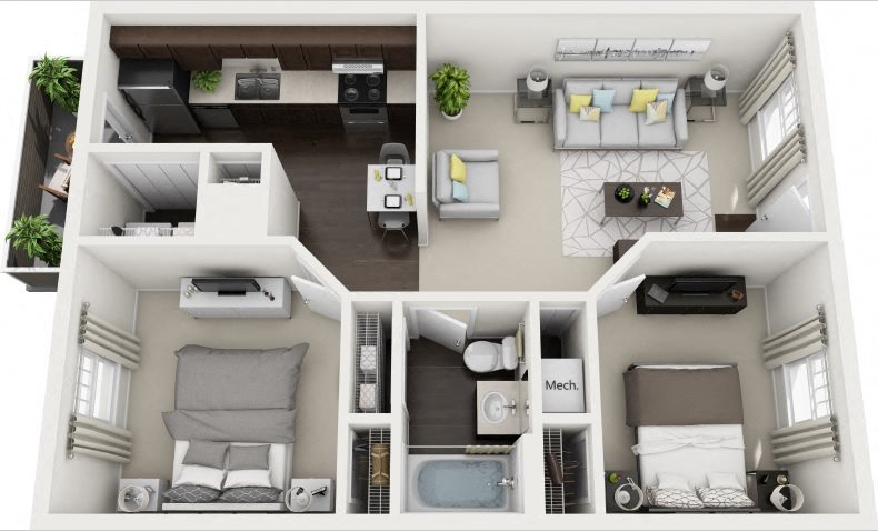 C1 Renovated Floor Plan 4