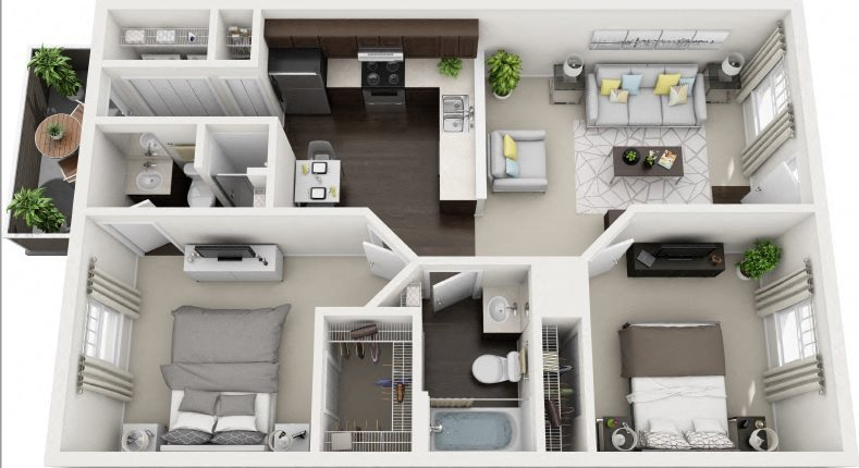 D1 Renovated Floor Plan 6