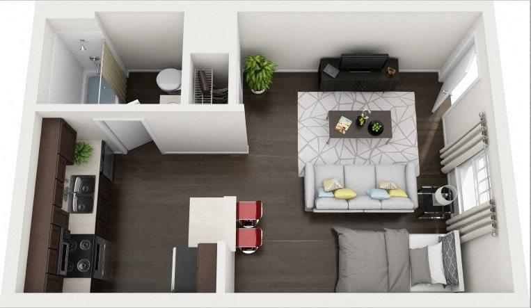 A1 Studio Classic Floor Plan 1
