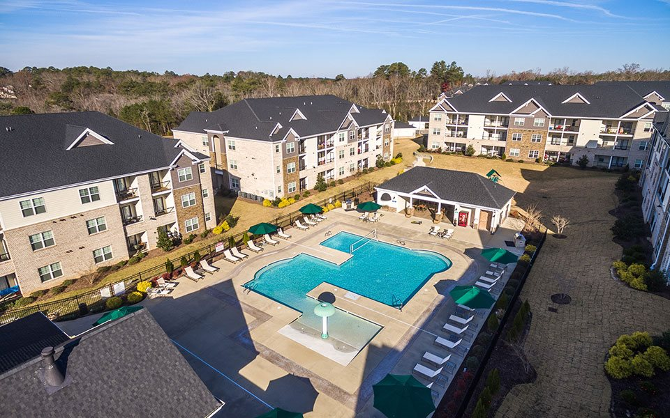 Aerial View of Plantation at Fayetteville in Fayetteville, NC