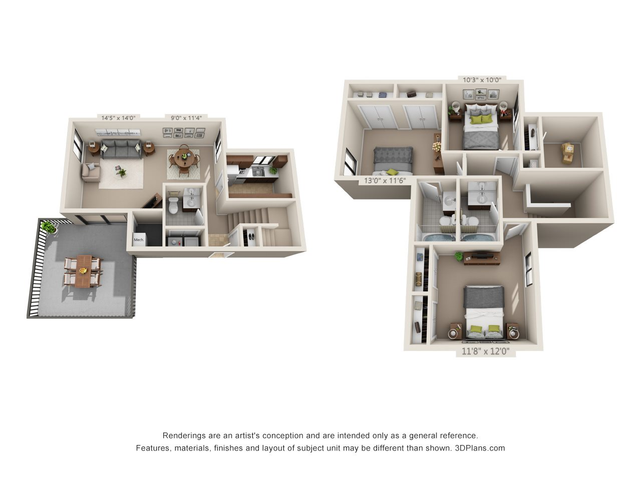 The Brownstone (Townhome) Floor Plan 11