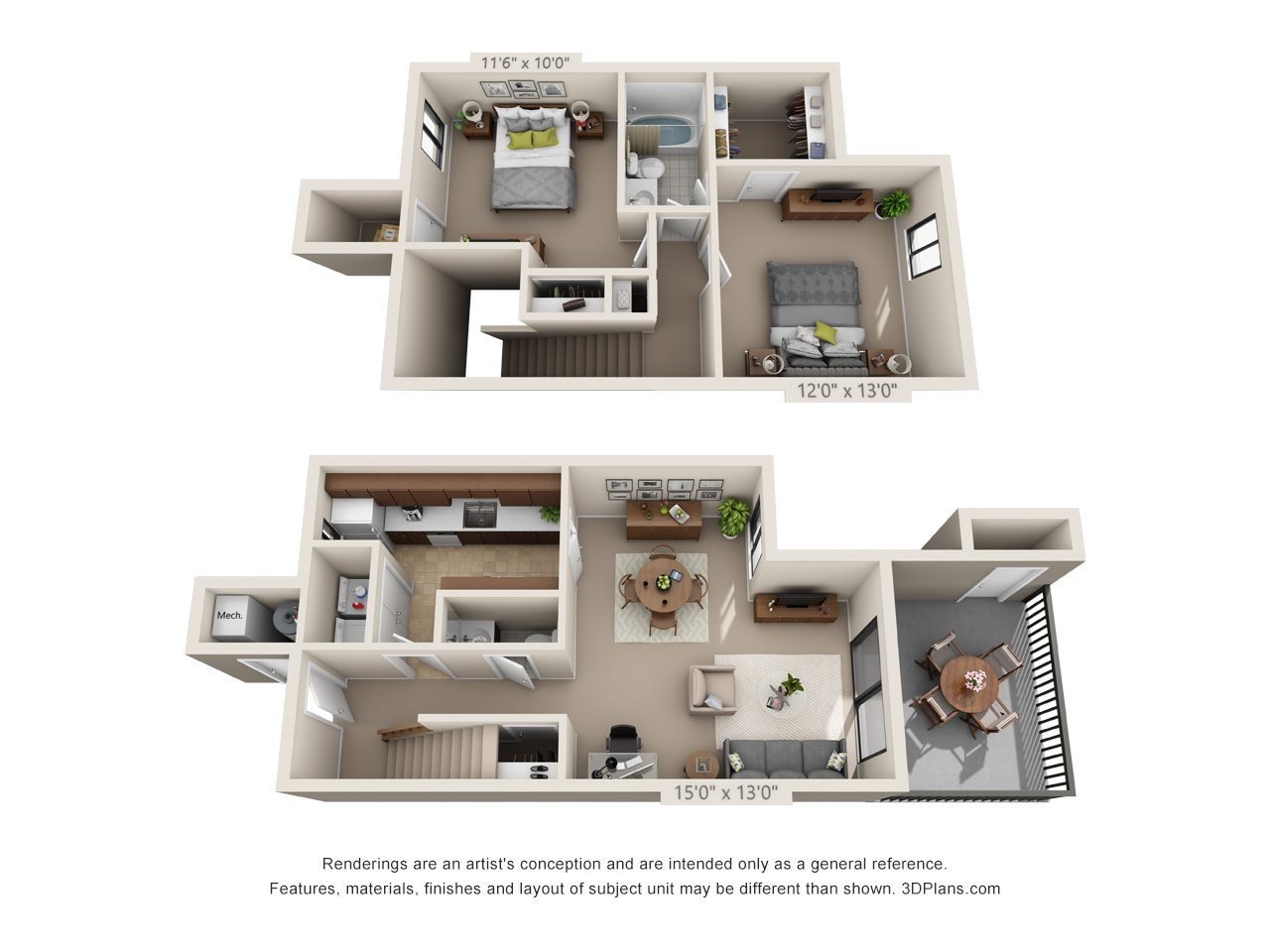 The Marble (Townhome) Floor Plan 6