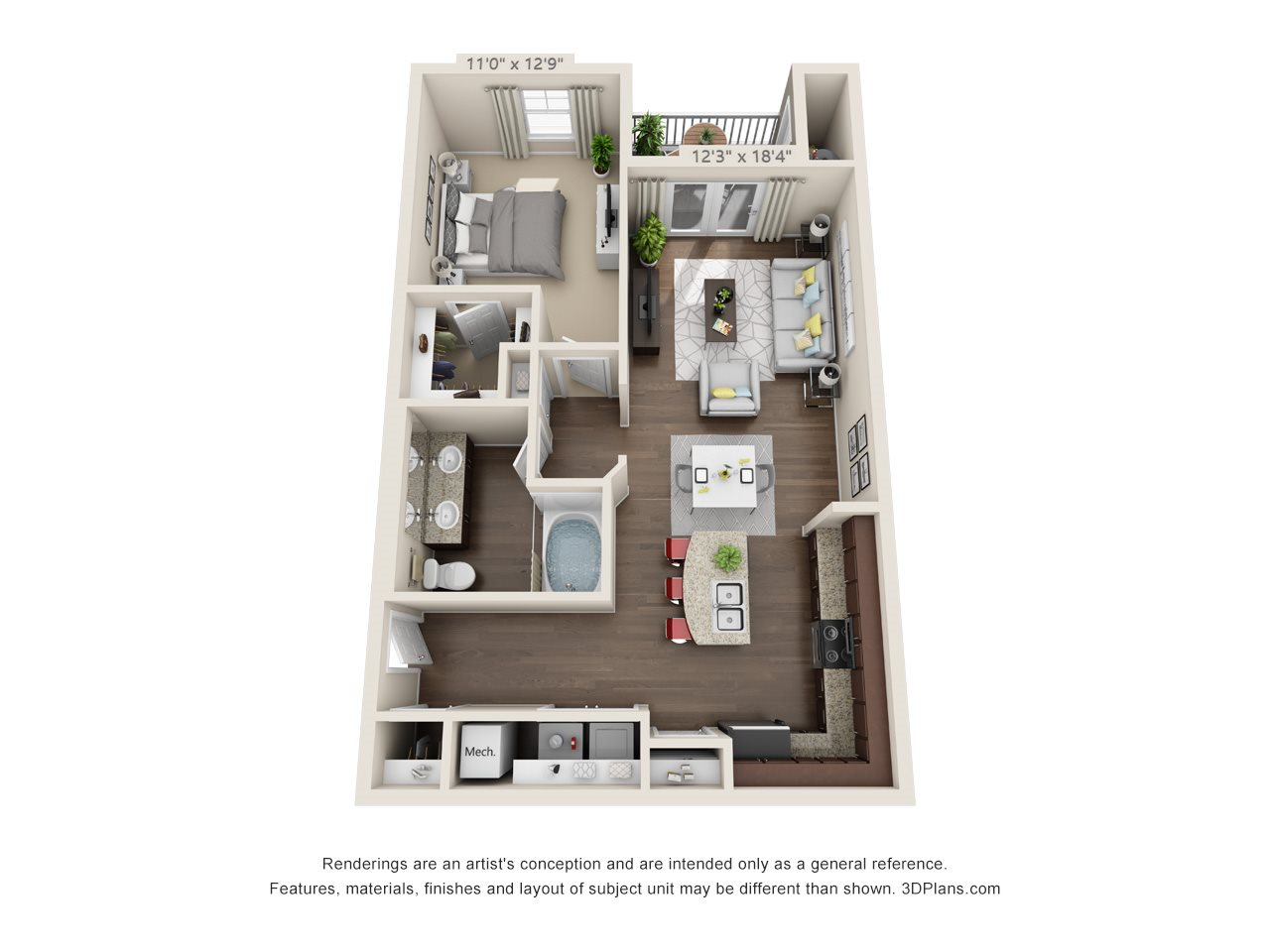 Saw Mill Floor Plan 1