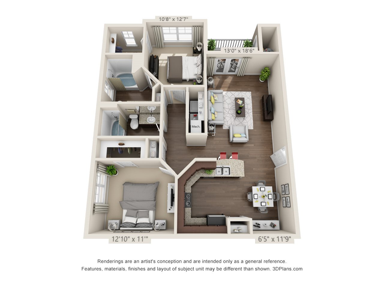 Flower Mill Floor Plan 2