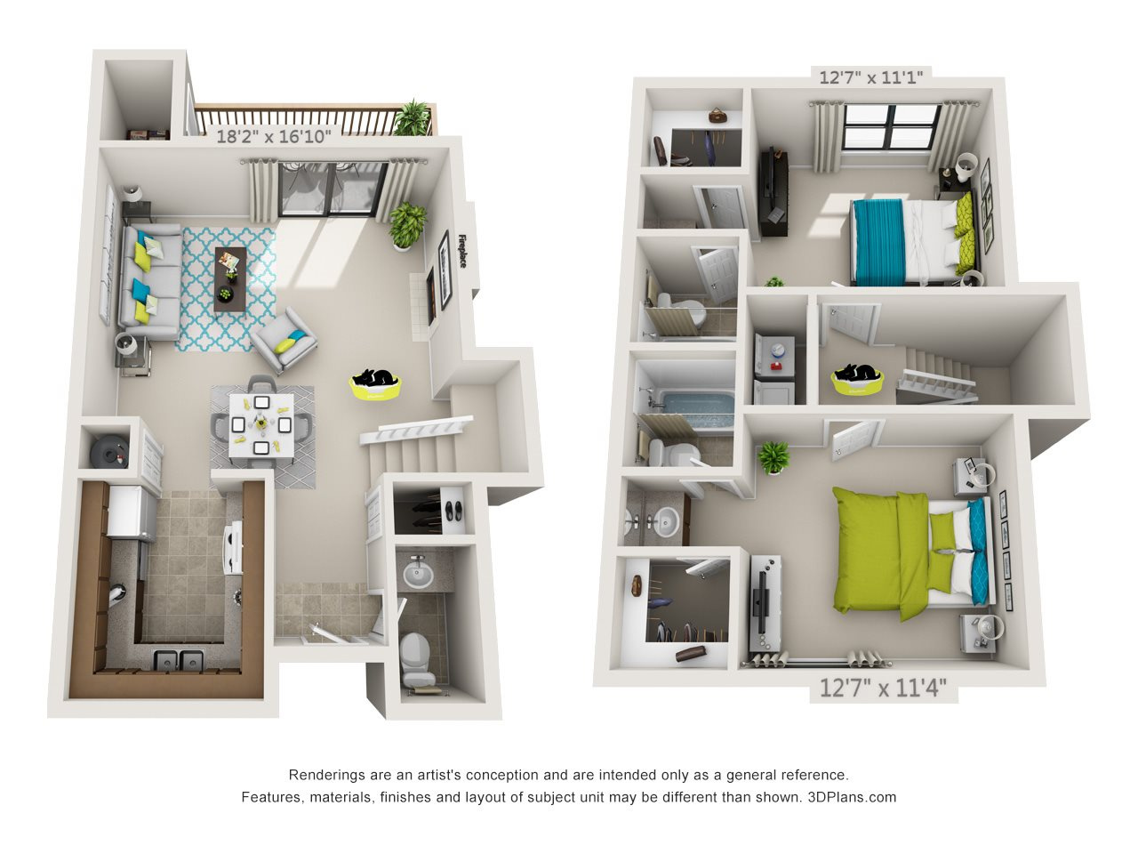 Willow (Town Home) Floor Plan 4