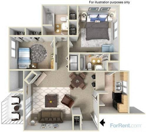 2X2 Garden Floor Plan 2