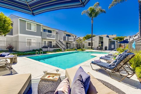 Newport Seacrest Apartments Lifestyle - Pool Deck & Pool
