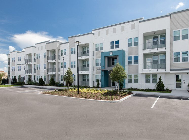 Landstar Village in Orlando, FL near Lake Nona. Make this community your new home or visit other Concord Rents communities at ConcordRents.com. Building exterior