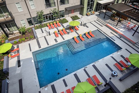 Artisan Twickenham Square Overhead View of Pool