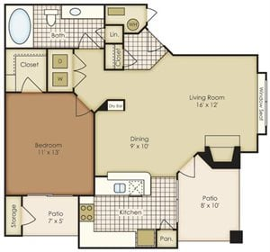 One Bedroom A1A