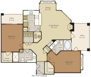 Two Bedroom B2A