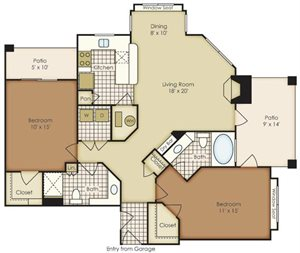 Two Bedroom Townhome B3A