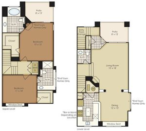 Two Bedroom Townhome B3B
