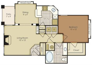 One Bedroom 1A1A-3A1C-4A1A
