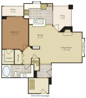One Bedroom 1A1DG - 2A1BG