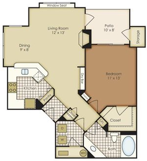 One Bedroom 3A1B