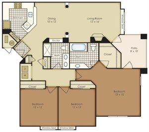 Three Bedroom 1C2A-3C2A-4C2A