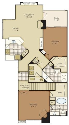 Two Bedroom 1B2CG-2B2CG