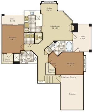 Two Bedroom 1B2EGU-1B2EG-2B2EG