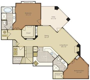 Two Bedroom 1B2FG-2B2FG-1B2FGU
