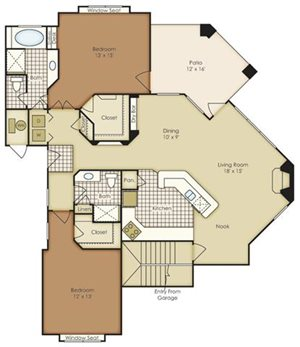 Two Bedroom 1B2HG-1B2HGU-2B2HG