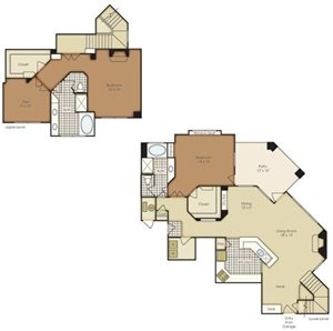 Two Bedroom Townhome with Den 1B2TNG-1B2TNGU-2B2TNG