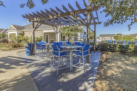 Outdoor Resident Kitchen with Pergola