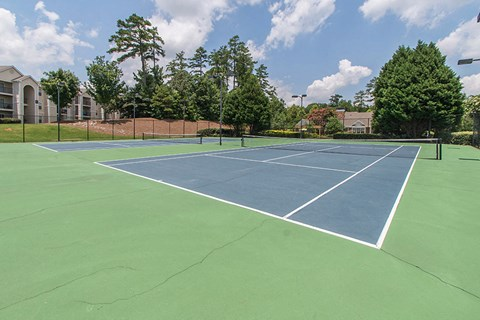 Legacy Mill Outdoor Tennis Court