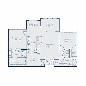 1375 square feet