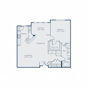 1054 square feet