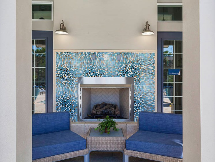 The Beach House Outdoor Fireplace