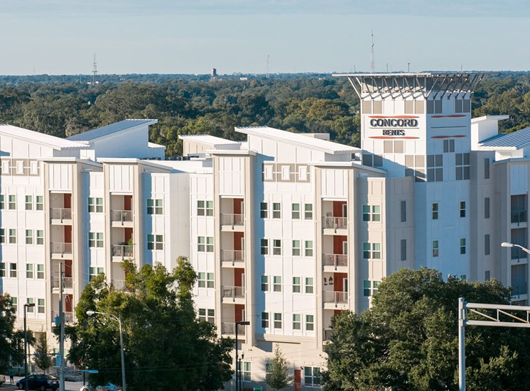 Lexington Court Apartments for rent in Downtown Orlando, FL. Make this community your new home or visit other Concord Rents communities at ConcordRents.com. Aerial