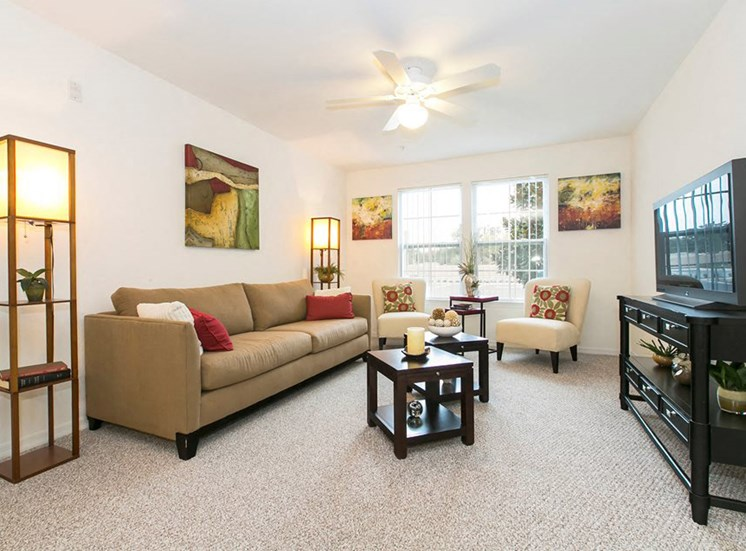 Village Park Senior Living Apartments for rent in Winter Park, FL. Make this community your new home or visit other Concord Rents communities at ConcordRents.com. Living room