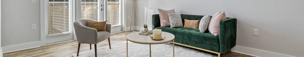 Minimalist living room Hawthorne at friendly