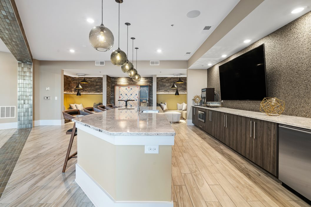 Demo kitchen in Hawthorne at Friendly Clubhouse