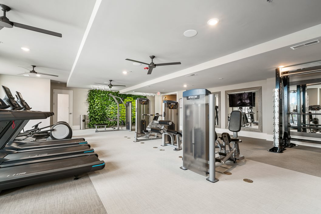 State of the Art Fitness Center with Living Wall, Cardio and Strength Training Equipment