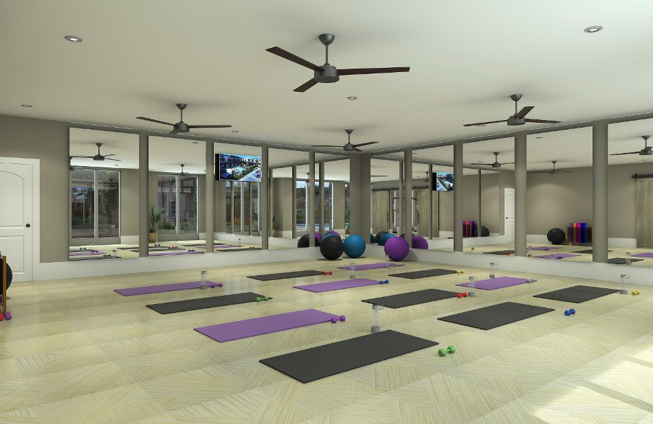 Relax and rejuvenate at the yoga studio
