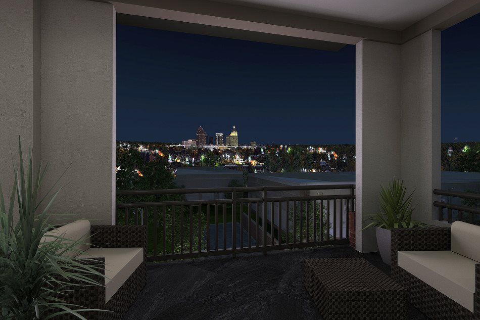 Enjoy views of downtown from the sky lounge