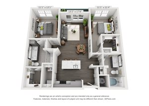 Hawthorne at Friendly Apartments Floor Plan