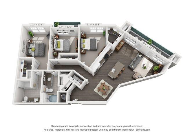 C2-1 Floor Plan 15