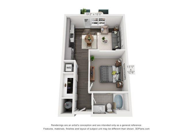Studio 1 Floor Plan 1